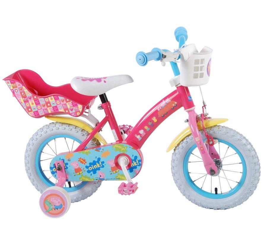 Peppa Pig Kinderfiets - Meisjes - 12 inch - Roze
