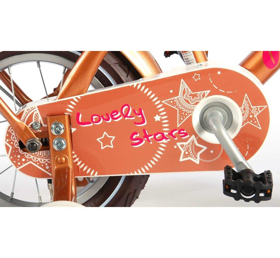 Volare Lovely Stars Kinderfiets - Meisjes - 12 inch - Goud - 95% afgemonteerd