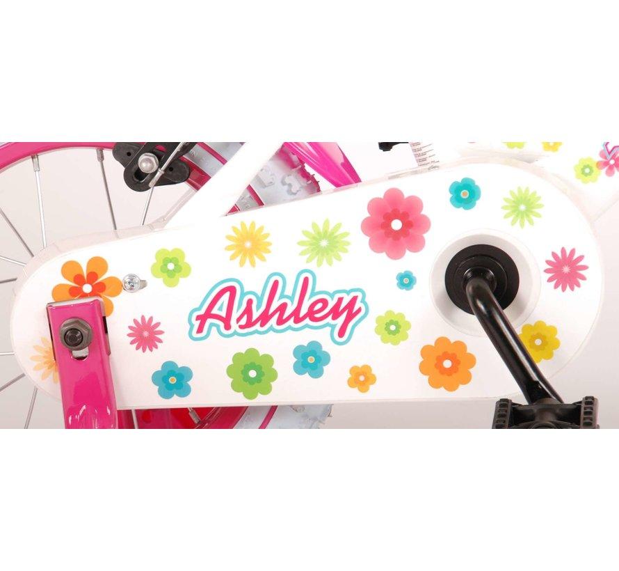 Volare Ashley Kinderfiets - Meisjes - 12 inch - Wit - 2 handremmen