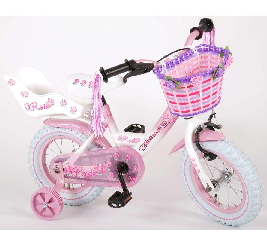 Volare Rose Kinderfiets - Meisjes - 12 inch - Roze - 95% afgemonteerd