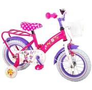 Disney Minnie Disney Minnie Bow-Tique Kinderfiets - Meisjes - 12 inch - Roze Wit - 95% afgemonteerd