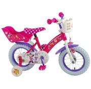 Disney Minnie Disney Minnie Bow-Tique Kinderfiets - Meisjes - 12 inch - Roze Wit