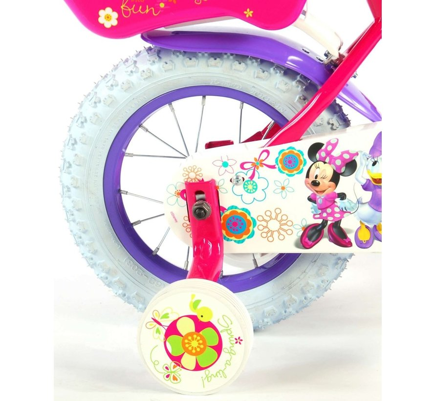 Disney Minnie Bow-Tique Kinderfiets - Meisjes - 12 inch - Roze Wit
