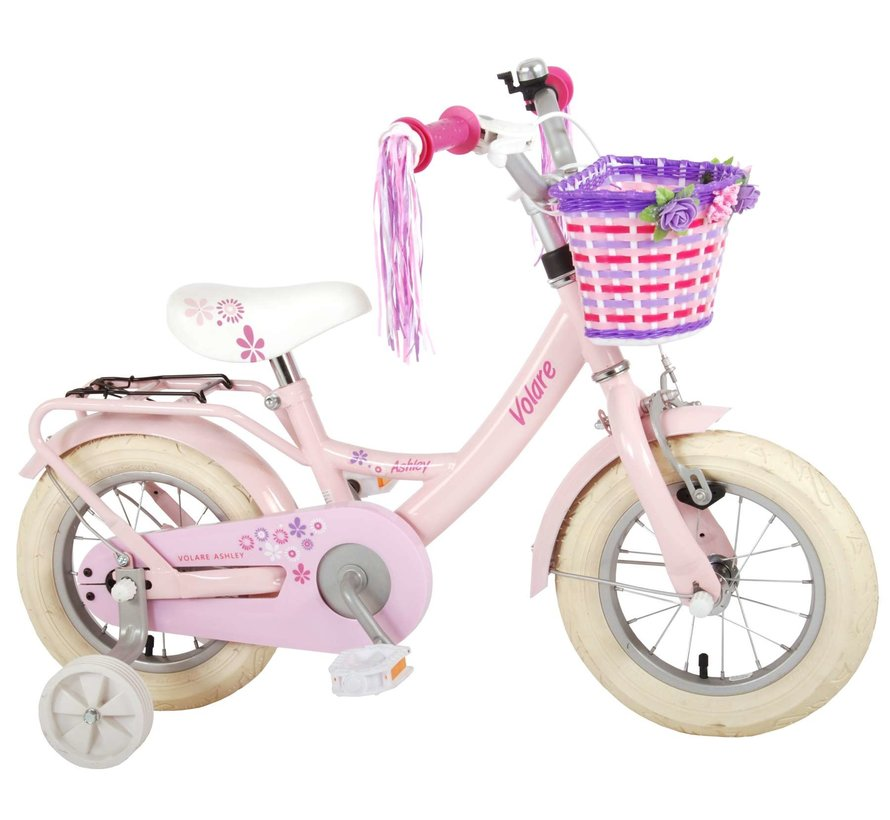 Volare Ashley Kinderfiets - Meisjes - 12 inch - Roze - 95% afgemonteerd