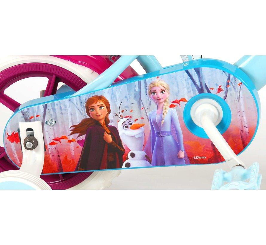 Disney Frozen 2 Kinderfiets - Meisjes - 10 inch - Blauw/Paars