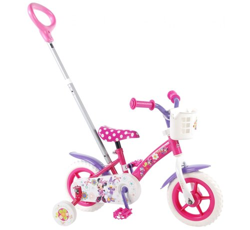 Disney Minnie Disney Minnie Bow-tique Kinderfiets - Meisjes - 10 inch - Roze/Wit/Paars