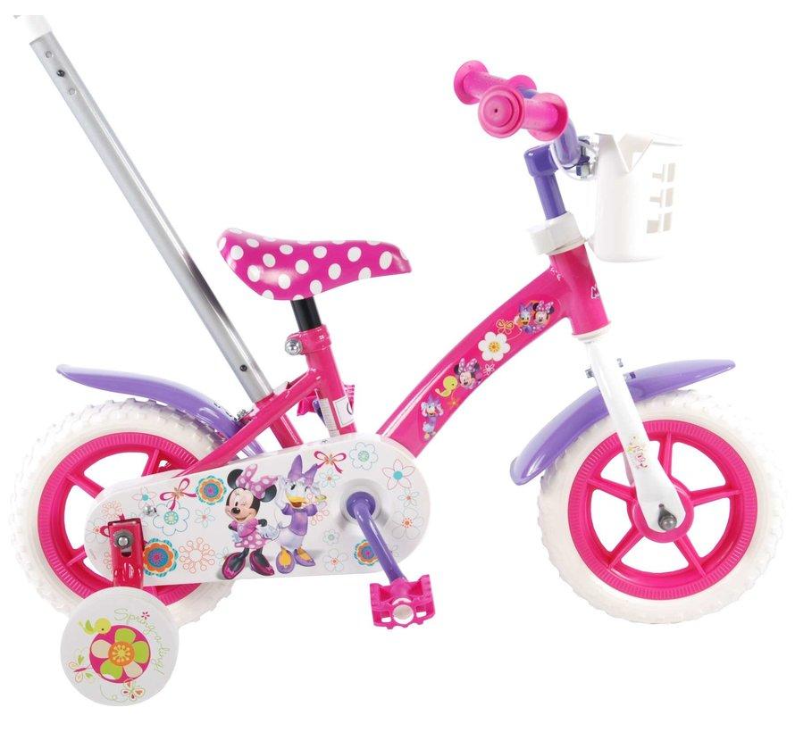 Disney Minnie Bow-tique Kinderfiets - Meisjes - 10 inch - Roze/Wit/Paars
