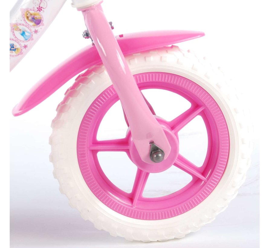 Disney Princess Kinderfiets - Meisjes - 10 inch - Roze/Wit
