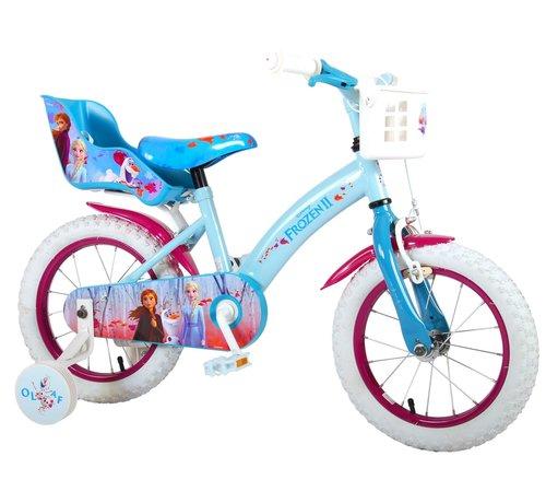 Disney Frozen 2 Disney Frozen 2 Kinderfiets - Meisjes - 14 inch - Blauw/Paars