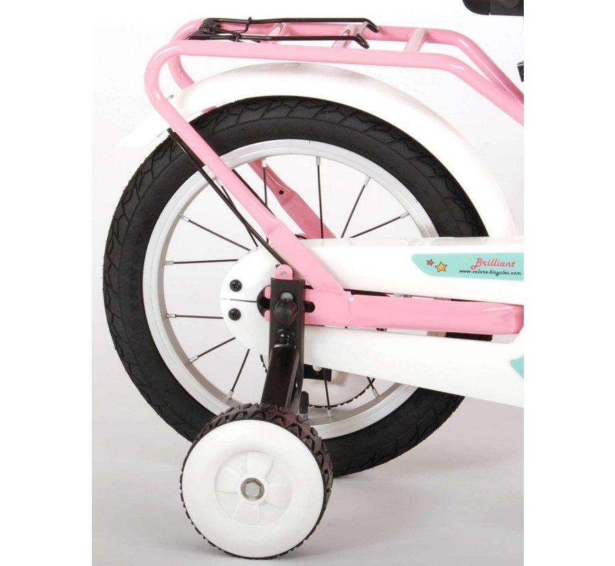 Volare Brilliant Kinderfiets - Meisjes - 14 inch - Roze - 95% afgemonteerd