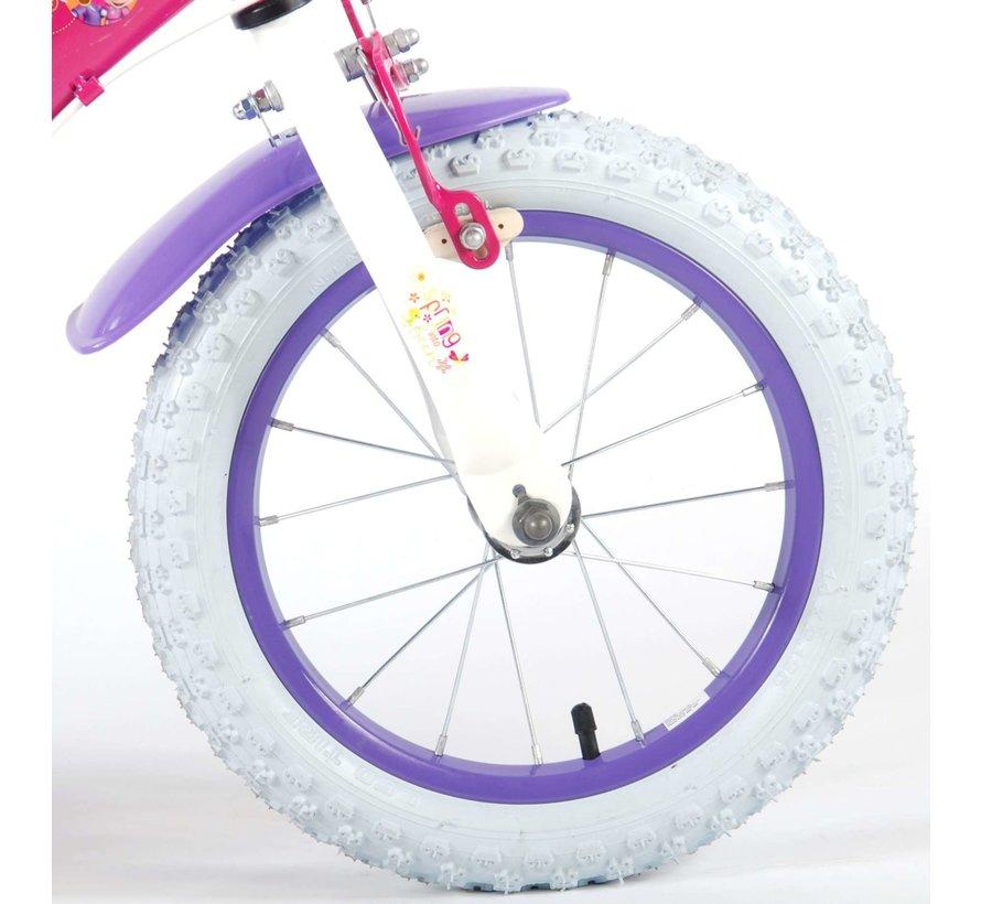 Disney Minnie Bow-Tique Kinderfiets - Meisjes - 14 inch - Roze - twee handremmen