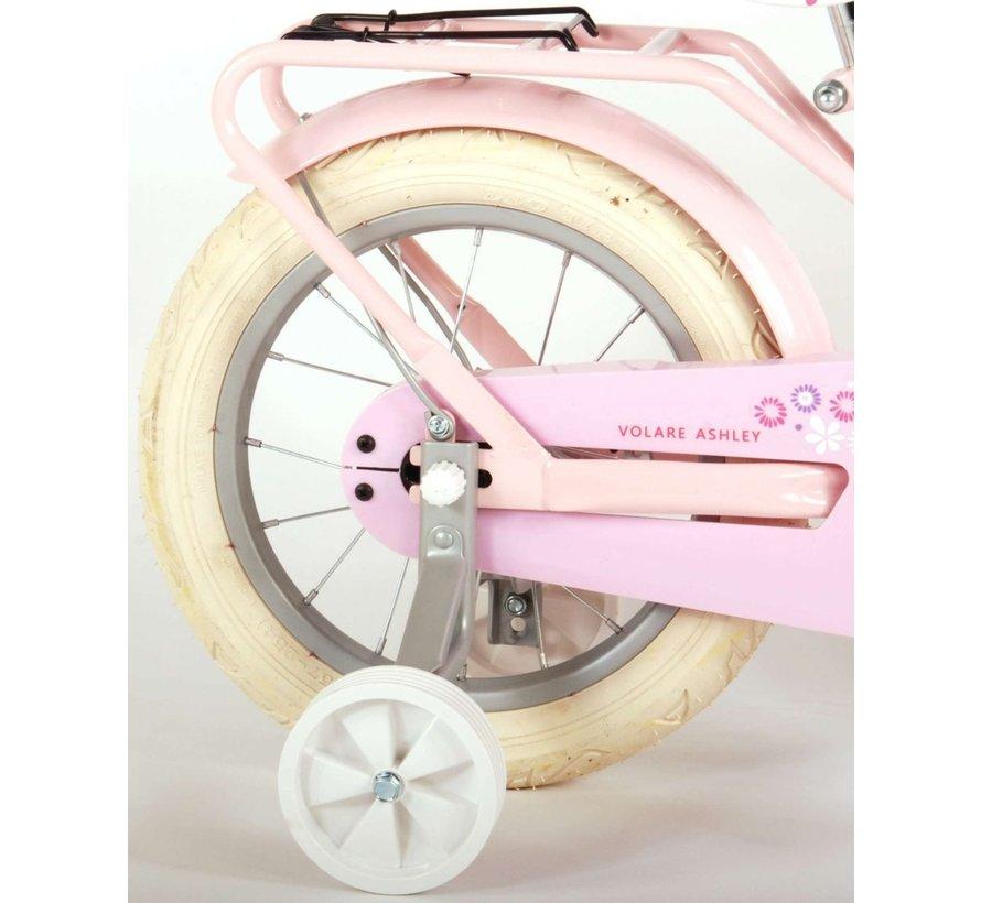 Volare Ashley Kinderfiets - Meisjes - 14 inch - Roze - 95% afgemonteerd