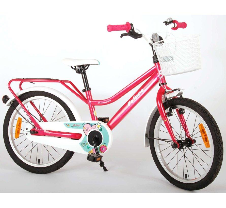 Volare Brilliant Kinderfiets - Meisjes - 18 inch - Roze - 95% afgemonteerd