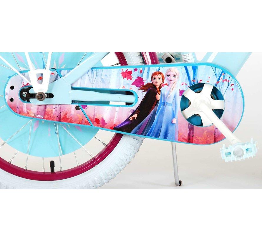 Disney Frozen 2 Kinderfiets - Meisjes - 18 inch - Blauw/Paars - 95% afgemonteerd