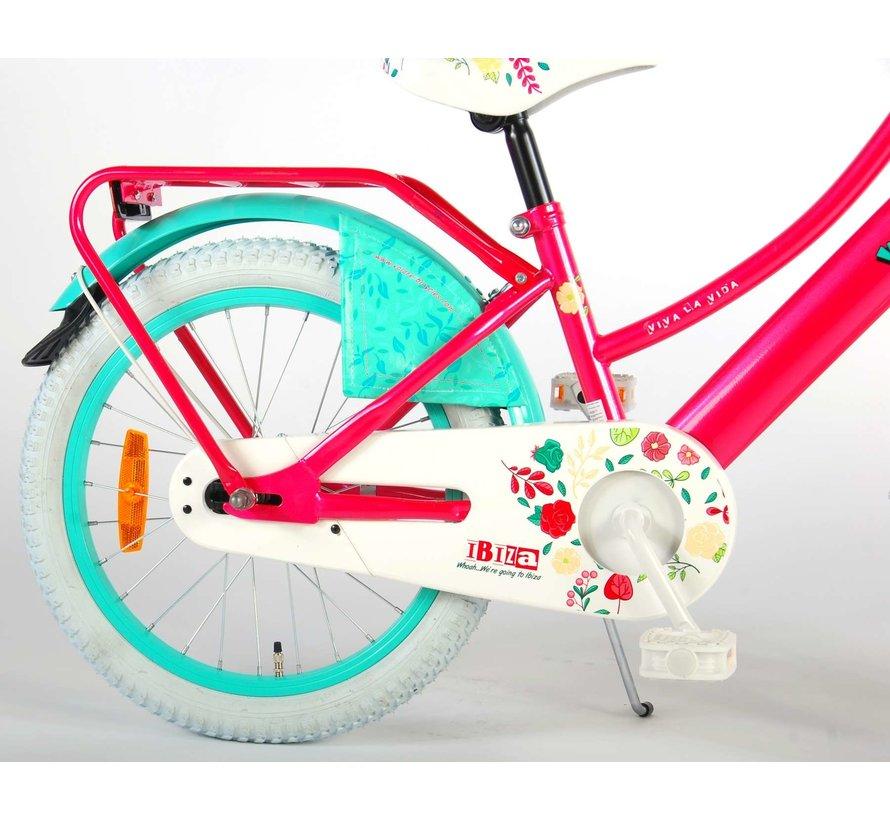 Volare Ibiza Kinderfiets - Meisjes - 18 inch - Roze - 95% afgemonteerd
