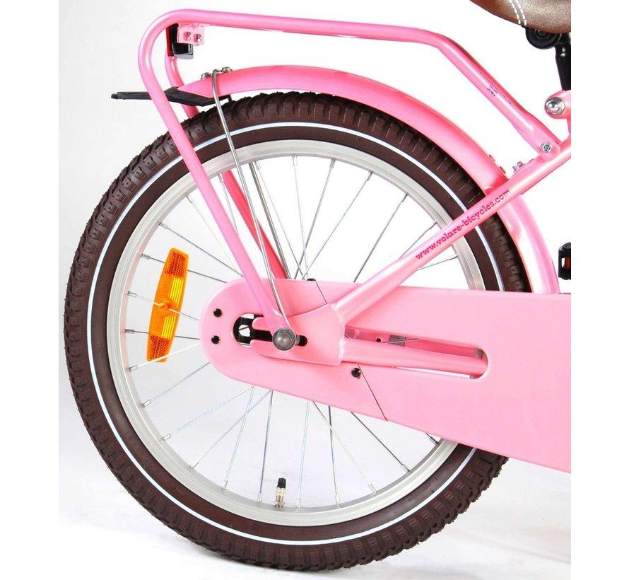 Volare Excellent Kinderfiets - Meisjes -18 inch - Roze - 95% afgemonteerd