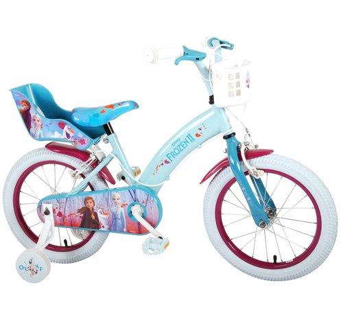 Disney Frozen 2 Disney Frozen 2 - Kinderfiets - Meisjes - 16 inch - Blauw/Paars - 2 Handremmen