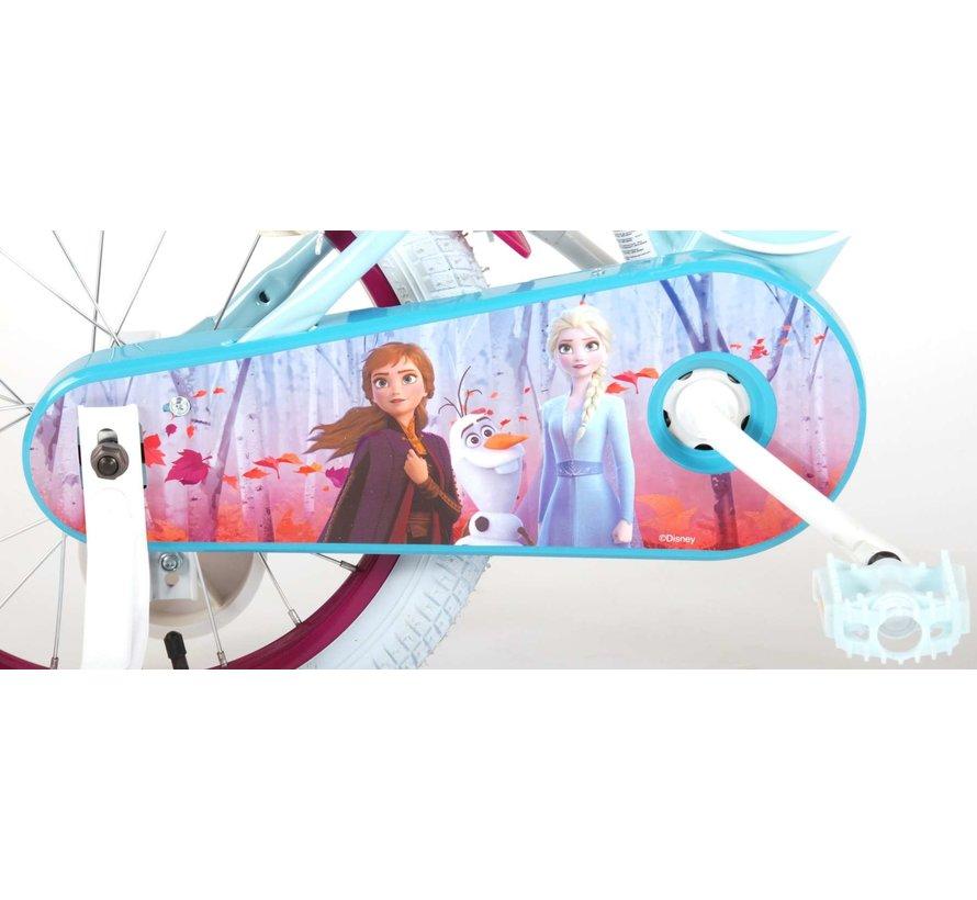 Disney Frozen 2 - Kinderfiets - Meisjes - 16 inch - Blauw/Paars - 2 Handremmen
