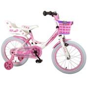 Volare Volare Rose Kinderfiets - Meisjes - 16 inch - Roze Wit - 95% afgemonteerd