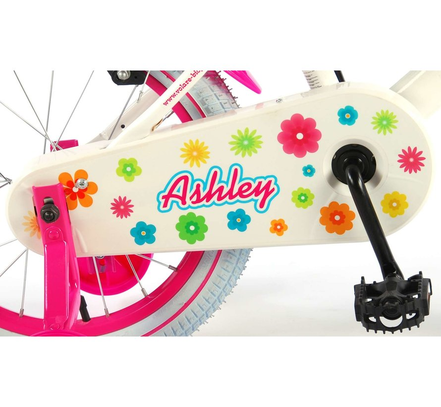 Volare Ashley Kinderfiets - Meisjes - 16 inch - Wit - 2 handremmen