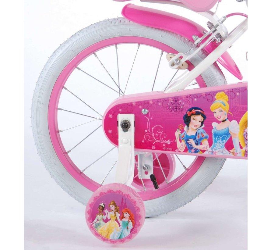 Disney Princess Kinderfiets - Meisjes - 16 inch - Roze - 2 handremmen