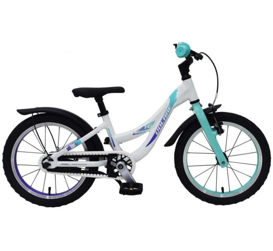 Volare Glamour Kinderfiets - Meisjes - 16 inch - Parelmoer Mint Groen - Prime Collection