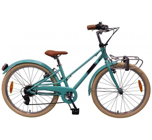 Volare Volare Melody Kinderfiets - Meisjes - 24 inch - Turquoise - 6 speed - Prime Collection