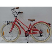 Volare Volare Melody Kinderfiets - Meisjes - 24 inch - Pastel Rood - 6 speed - Prime Collection