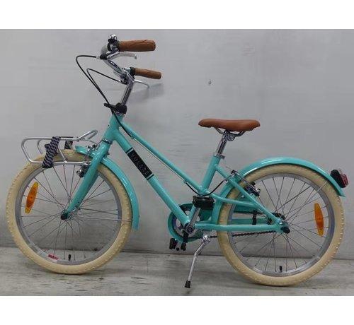 Volare Volare Melody Kinderfiets - Meisjes - 20 inch - Turquoise - Twee Handremmen - Prime Collection