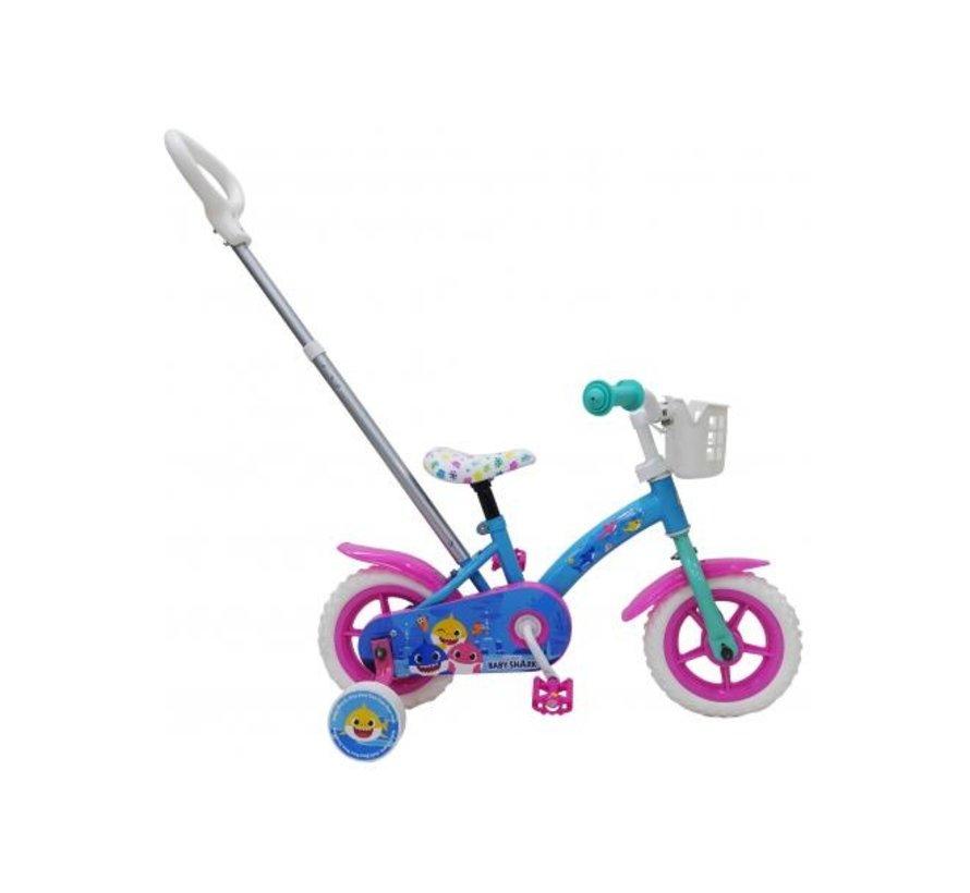 Baby Shark Kinderfiets - Unisex - 10 inch - Roze Blauw