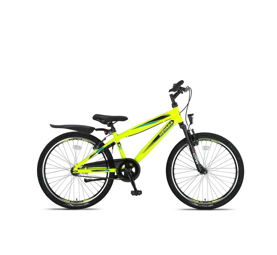 Altec Nevada 24inch Jongensfiets 2021 Neon Lime Nieuw