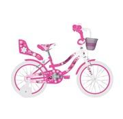 Volare Volare Lovely Kinderfiets - Meisjes - 14 inch - Roze Wit - Twee Handremmen - 95% afgemonteerd