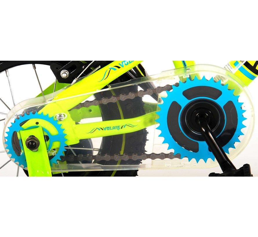 Volare Electric Green Kinderfiets - Jongens - 12 inch - Groen - Twee handremmen