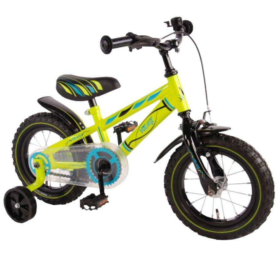Volare Electric Green Kinderfiets - Jongens - 12 inch - Groen - 95% afgemonteerd