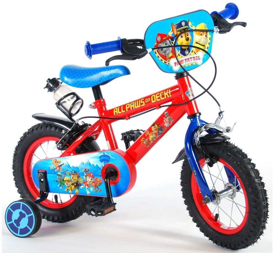 Paw Patrol Kinderfiets - Jongens - 12 inch - Rood/Blauw - 2 handremmen