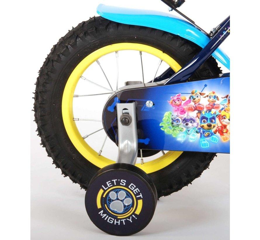 Paw Patrol Mighty Pups Kinderfiets - Jongens - 12 inch - Blauw