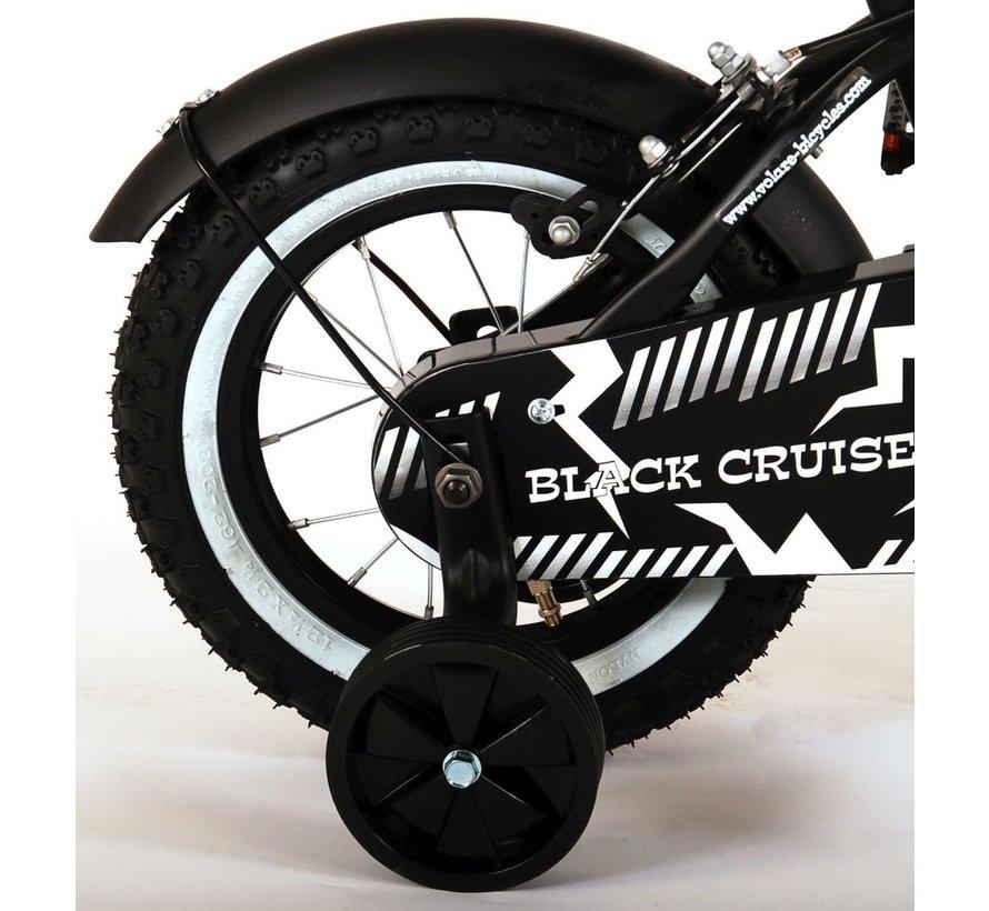 Volare Black Cruiser Kinderfiets - Jongens - 12 inch - Zwart - Twee handremmen