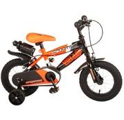 Volare Volare Sportivo Kinderfiets - Jongens - 12 inch - Neon Oranje Zwart - Twee Handremmen - 95% afgemonteerd