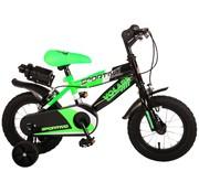 Volare Volare Sportivo Kinderfiets - Jongens - 12 inch - Neon Groen Zwart - Twee Handremmen - 95% afgemonteerd