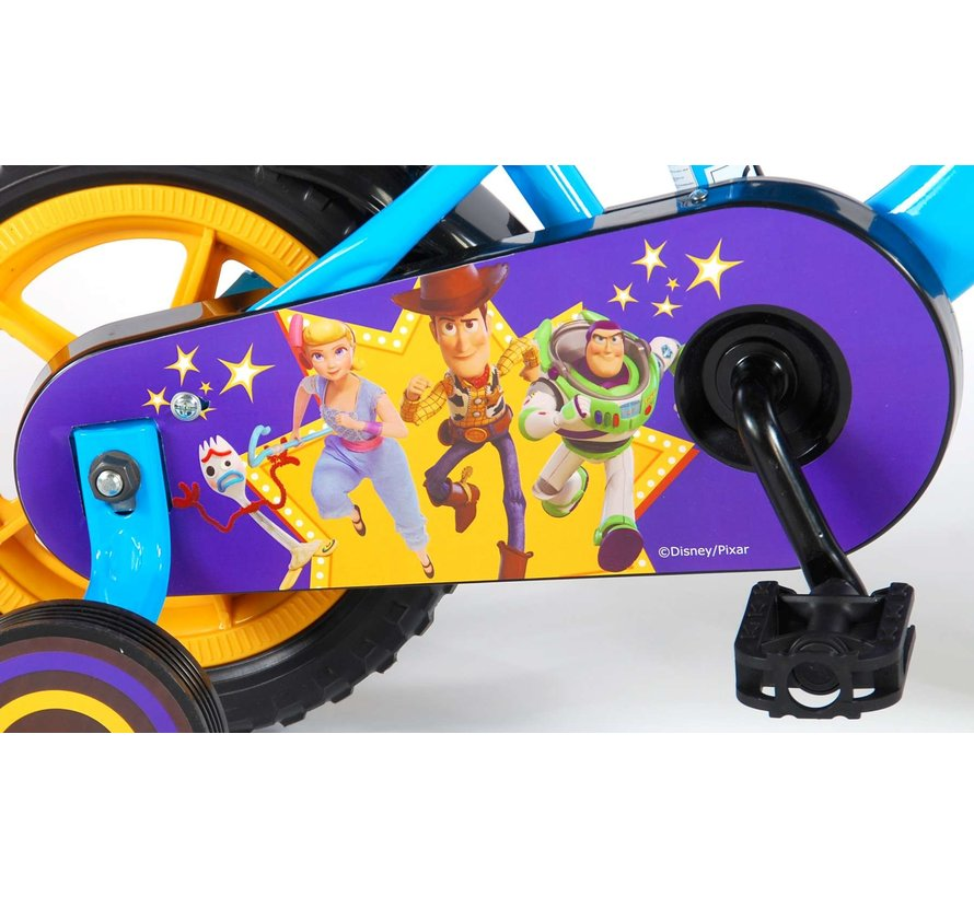 Disney Toy Story 4 Kinderfiets - Jongens - 10 inch - Blauw/Geel