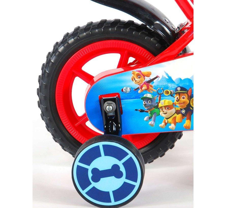 Paw Patrol Kinderfiets - Jongens - 10 inch - Rood/Blauw