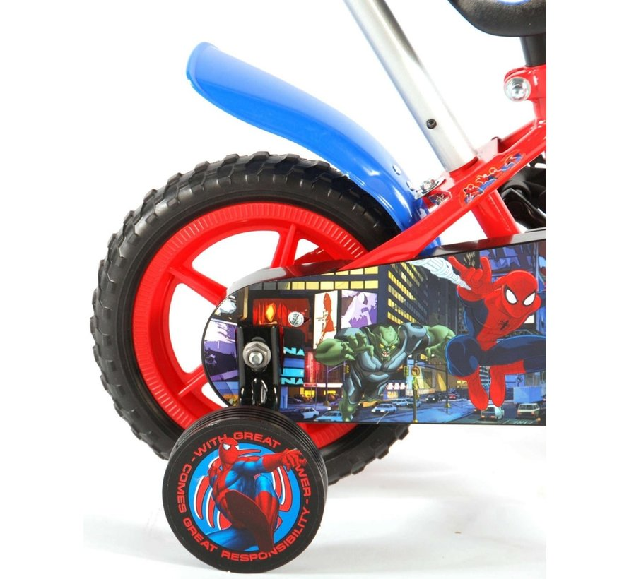 Spider-Man Kinderfiets - Jongens - 10 inch - Rood/Blauw