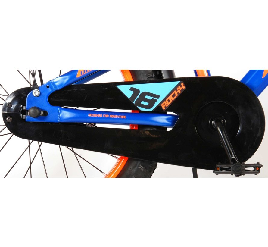 Volare Rocky Kinderfiets - 18 inch - Blauw - 95% afgemonteerd - Prime Collection