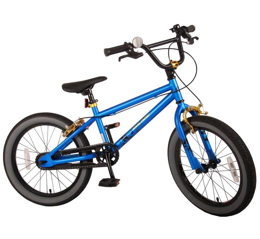 Volare Cool Rider Kinderfiets - Jongens - 18 inch - Blauw - twee handremmen - 95% afgemonteerd - Prime Collection
