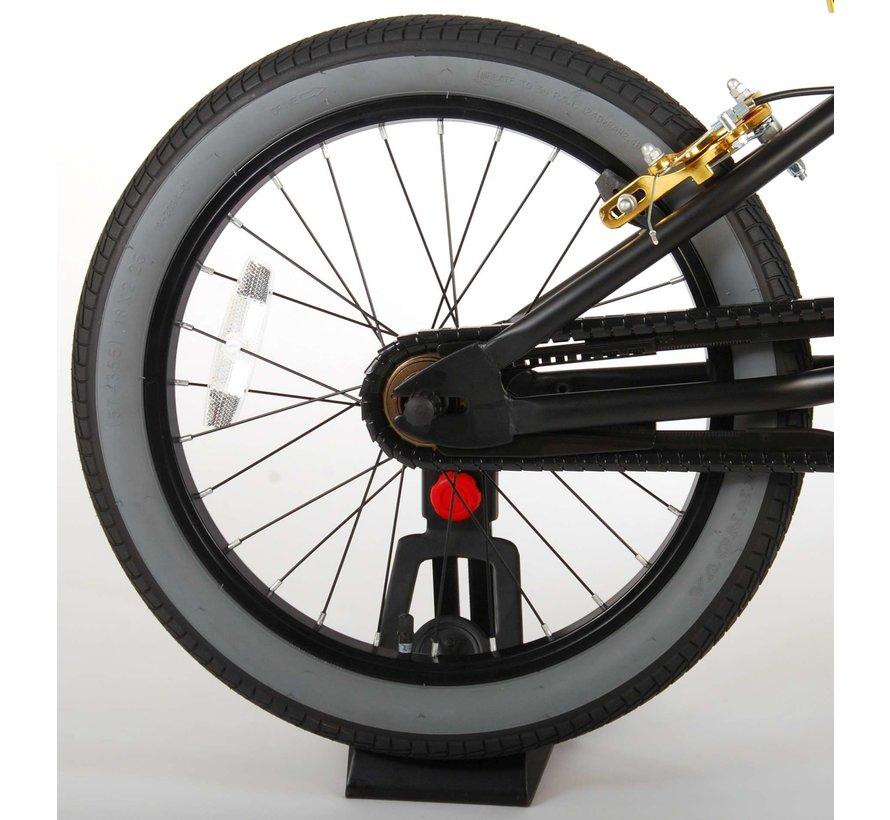 Volare Cool Rider Kinderfiets - Jongens - 18 inch - Zwart - twee handremmen - 95% afgemonteerd - Prime Collection