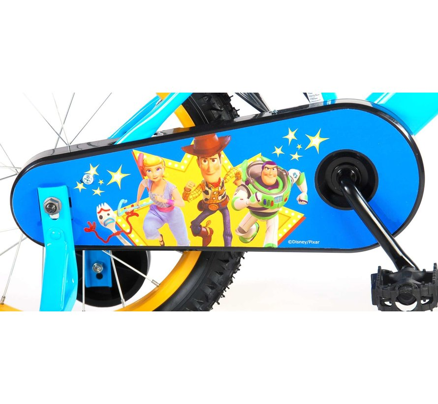 Disney Toy Story Kinderfiets - Jongens - 16 inch - Geel Blauw