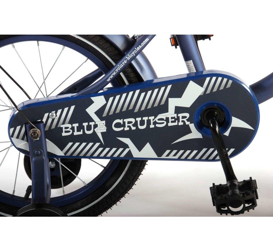 Volare Blue Cruiser Kinderfiets - Jongens - 16 inch - Blauw - 95% afgemonteerd