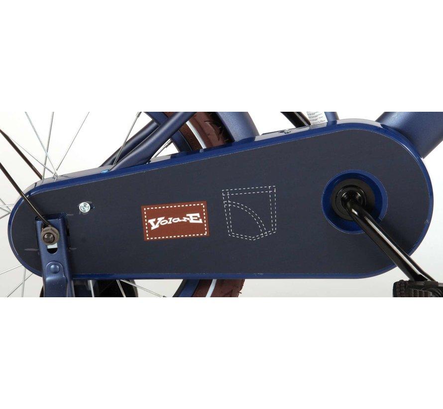 Volare Urban City Kinderfiets - Jongens - 16 inch - Donkerblauw - 95% afgemonteerd