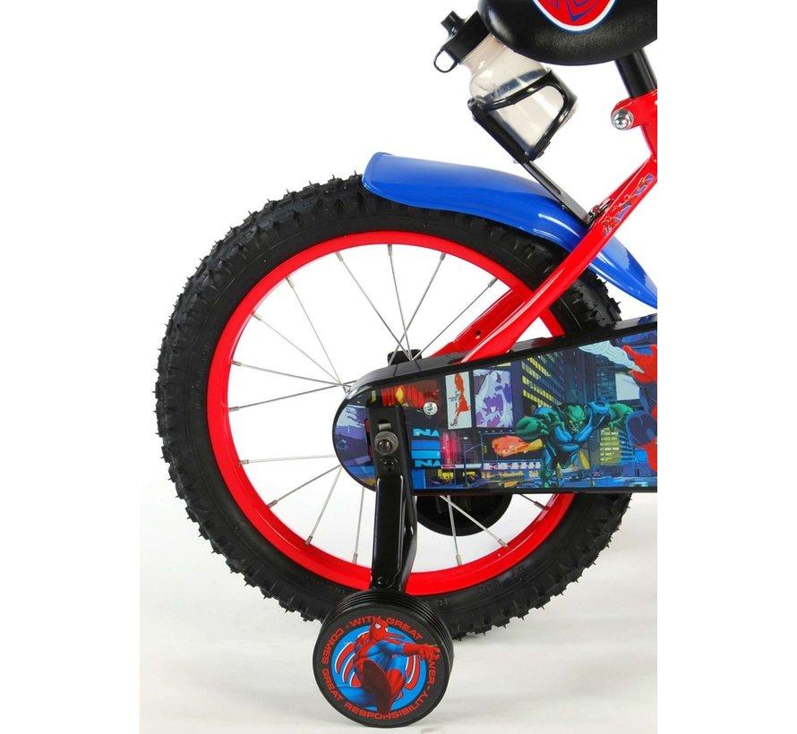 Ultimate Spider-Man Kinderfiets - Jongens - 16 inch - Rood Zwart