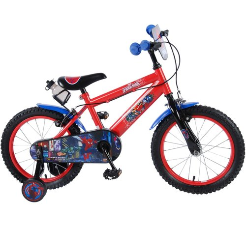 Spiderman Ultimate Spider-Man Kinderfiets - Jongens - 16 inch - Rood Zwart - 2 handremmen